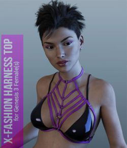 X-HarnessTop  for Genesis 3 Females