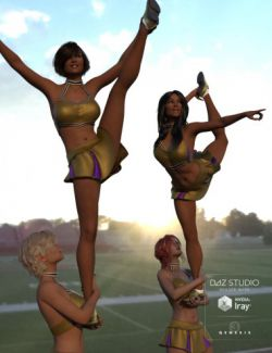 Cheer Fantasy College Cheerleader Poses