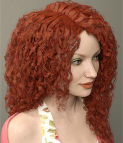 Rosaline Hair for Genesis 3 Female(s)