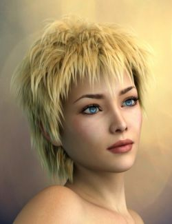 Vidra Hair for Genesis 3 Female(s) and Male(s)
