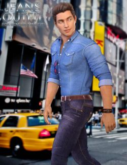 Jeans Outfit for Genesis 3 Male(s)