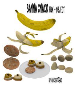 Banana Snack FBX OBJ