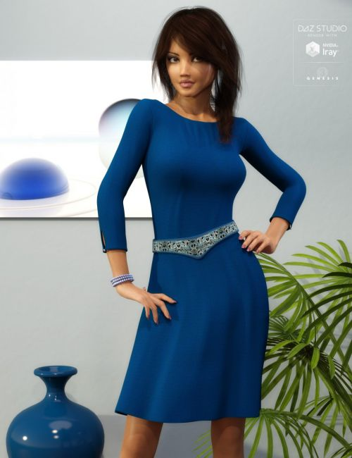 Classy Dress Outfit for Genesis 3 Female(s)