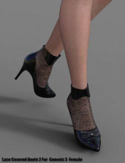 Lace Covered Boots 2 for Genesis 3 Female(s)