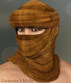 Desert Headwear for Genesis 3 Males
