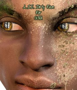 L.I.E Dirty Faces For Genesis 3 Male