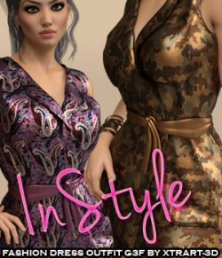 InStyle- Fashion Dress Outfit for Genesis 3 Females