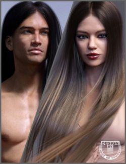 Super Sleeky Hair for Genesis 3 Female(s) and Genesis 3 Male(s) and OOT Hairblending 2.0