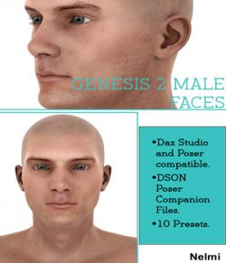 10 Faces for Genesis 2 Male