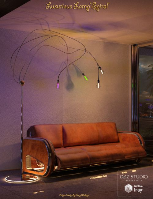Luxurious Lamp Spiral