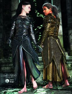 Eagle-Guard Torso Armor and Kilt for Genesis 3 Female(s) and Male(s)