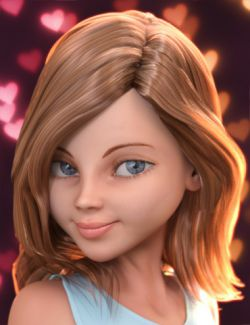 Stylized Megan Character and Hair for Genesis 3 Female(s)