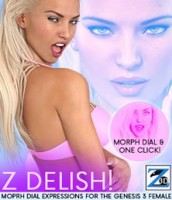 Z Delish - Morph Dial Expressions for the Genesis 3 Females