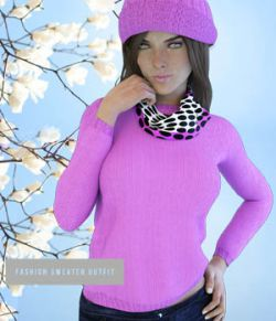 X-FashionSweater Outfit for Genesis 3 Females