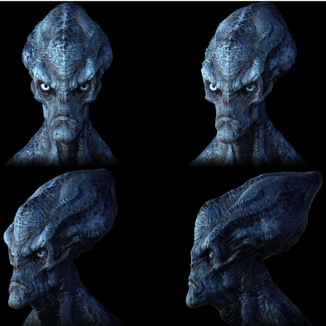 Concepting an alien in Zbrush
