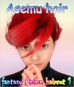 fantasy anime haircut 1_ Asemu hair_ for G2 & G3