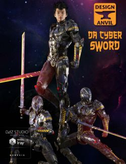 DA Cyber Sword and Poses for Genesis 3 Male(s)