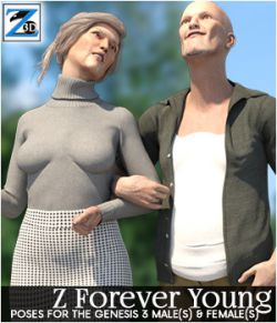 Z Forever Young- Poses for the Genesis 3 Male & Female