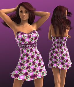 EQUINOX Textures for Strapless Mini Dress (G3/V7)