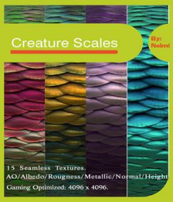 15 Creature Scales Textures with Texture Maps