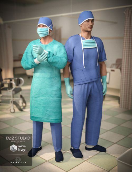 H&C Medical Scrubs Set for Genesis 3 Male(s)