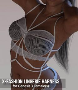 X-Fashion Lingerie Harness for Genesis 3 Females