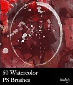 50 Watercolor PS Brushes