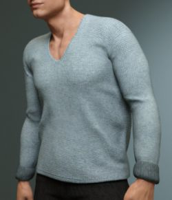 Lowneck Sweater for Genesis 3 Male(s)