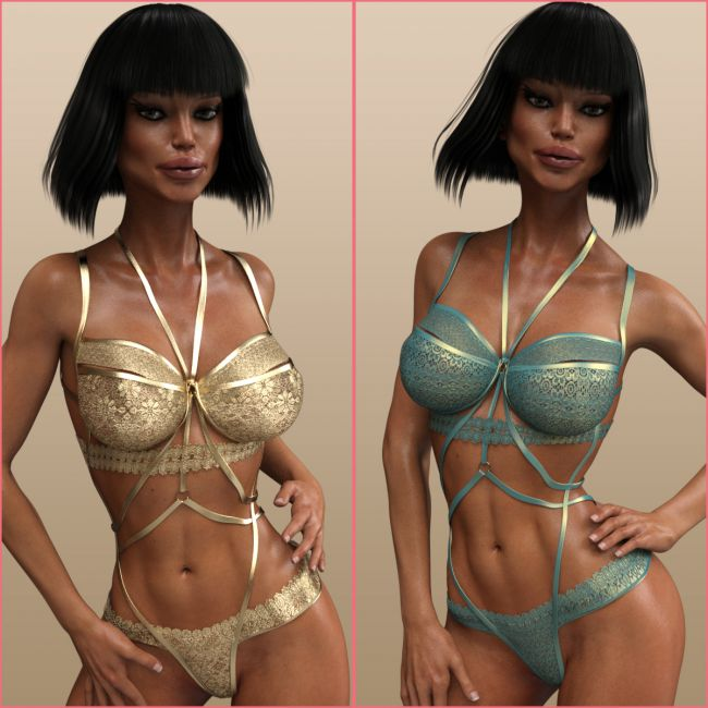 InStyle - X-Fashion Lingerie Harness for Genesis 3 Females
