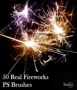 50 Real Fireworks PS Brushes