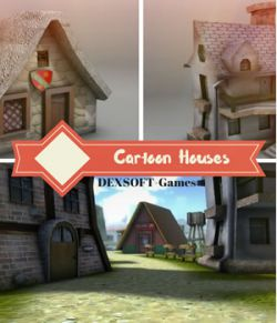 Cartoon Houses- Extended License