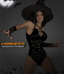 X-Fashion Witch 02 for Genesis 3 Females