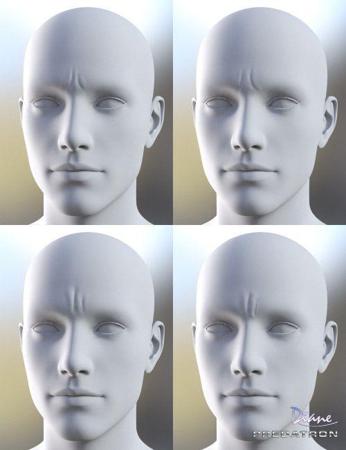 Facial wrinkles in poser 7 final
