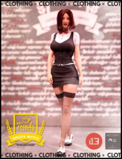 i13 Trendy Coffee Shop Barista Outfit for the Genesis 3 Female(s)