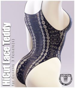 HiCut Lace Teddy for Genesis 3 Females and Nata3