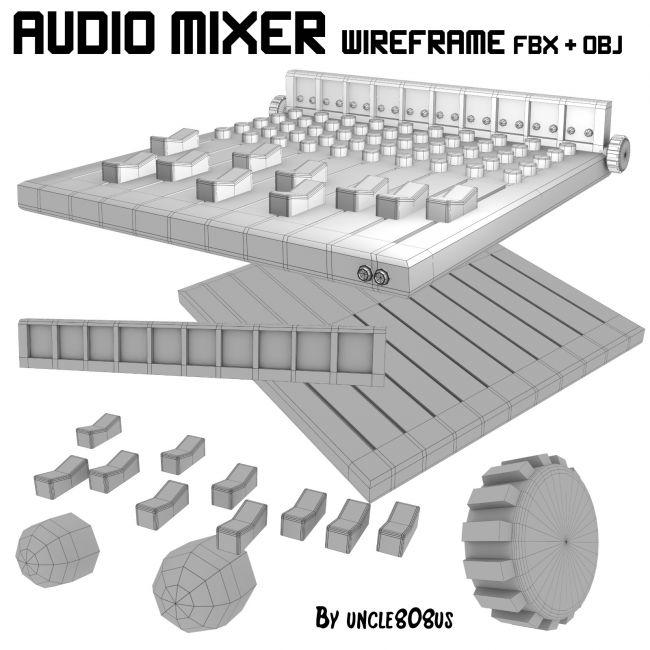 Audio Mixer FBX_OBJ