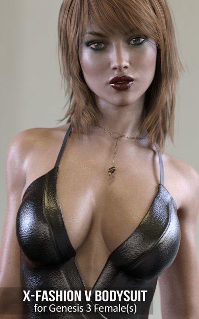 Fashion V-Bodysuit for Genesis 3 Females
