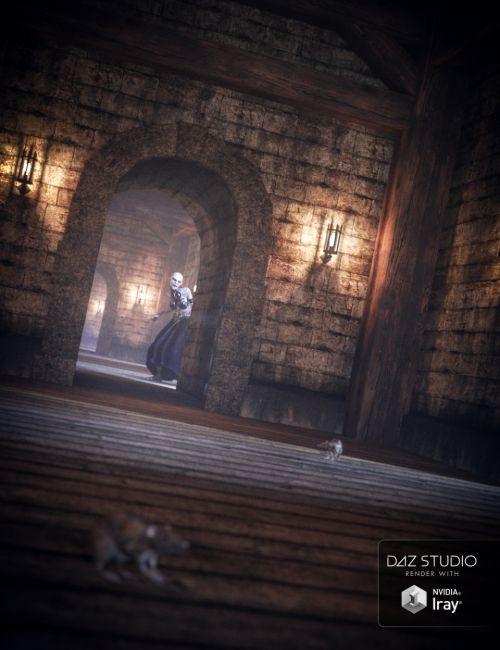 Fantasy Castle Corridor