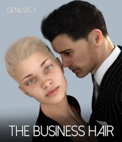 The Business Hair for Genesis 3 Male and Female