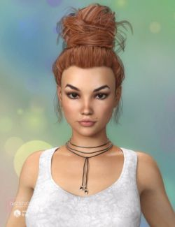 Morgane Hair for Genesis 3 Female(s)