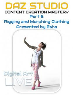 Daz Studio Content Creation Mastery Part 6: Rigging and Morphing Clothing Items