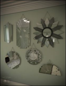Deco Mirror Set