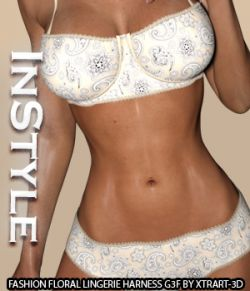 InStyle- Fashion Floral Lingerie for Genesis 3 Female(s)