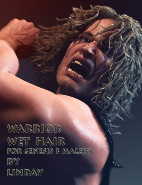 Warrior Wet Hair for Genesis 3 Male(s)