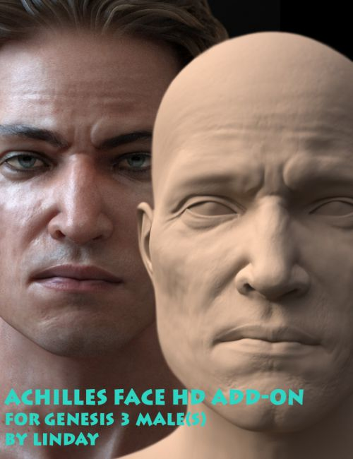 Achilles Face HD Add-On for Genesis 3 Male(s)