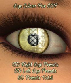 L.I.E. Eye Colors For Genesis 3 Female
