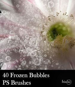 40 Frozen Bubbles PS Brushes