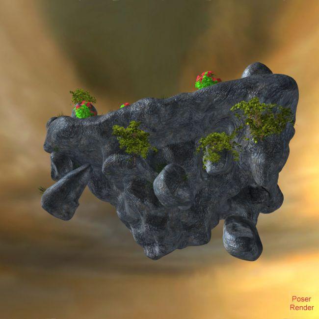 Floating Rock Ruins Poser