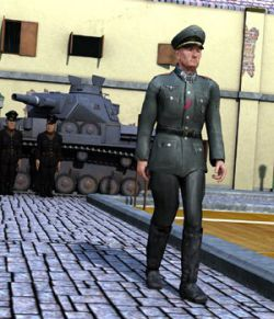German Officer M4 for Poser