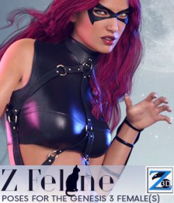 Z Feline- Poses for the Genesis 3 Female(s)
